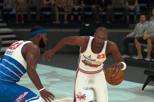 Michael Jordan vs LeBron James (NBA 2K21)