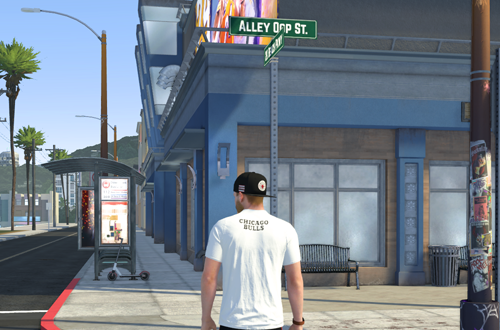 Alley-Oop St in The Neighborhood (NBA 2K21)