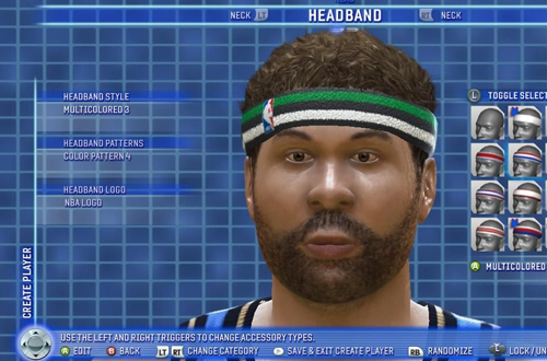 Create Player in NBA Live 06 (Xbox 360)