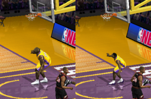 NBA Live 2002 Instant Replay Glitch