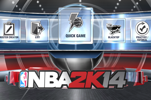 Main Menu in NBA 2K14 on PS4