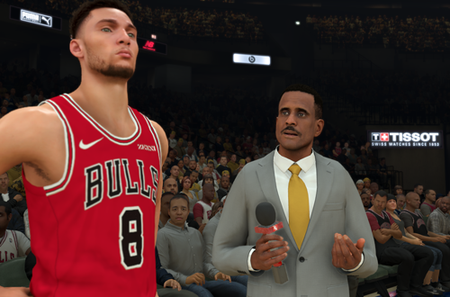Zach Lavine Interviewed by David Aldridge (NBA 2K21)
