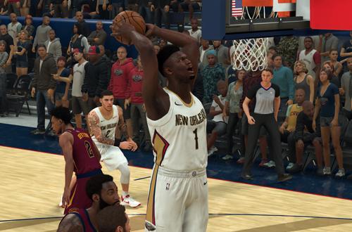 Zion Williamson Dunks in NBA 2K21 Current Gen
