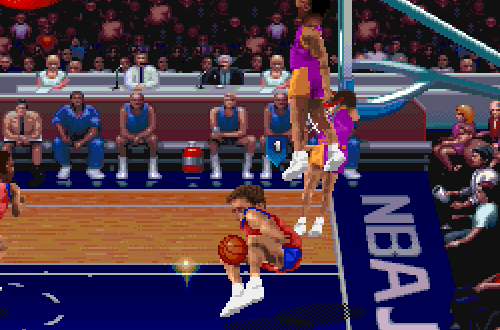 Graphical Glitches in NBA Jam Tournament Edition
