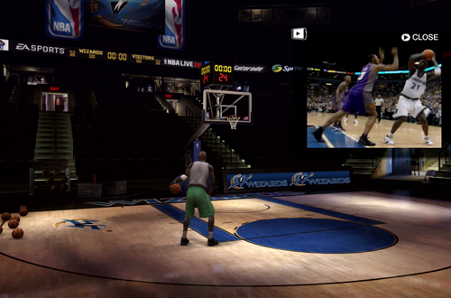 Go-To Moves in the NBA Live 08 Practice Arena