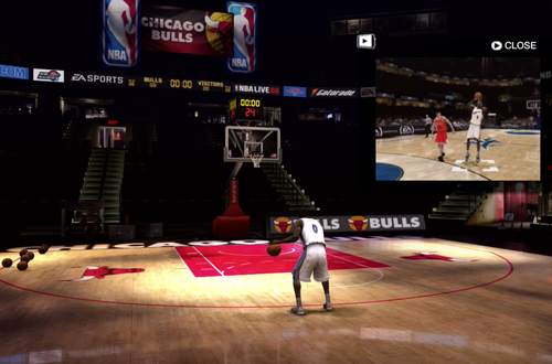 Jersey Bug in the NBA Live 08 Practice Arena