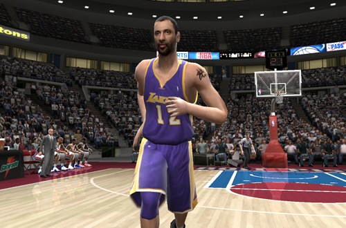 Vlade Divac in NBA Live 2005