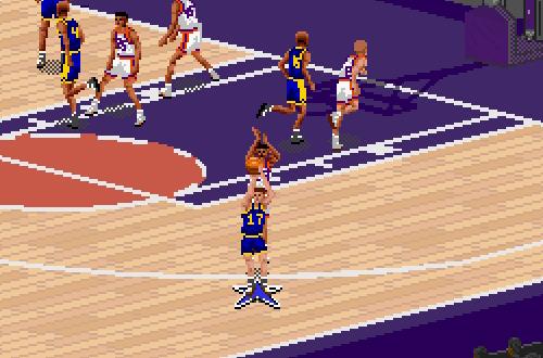 Shooting Backwards in NBA Live 95