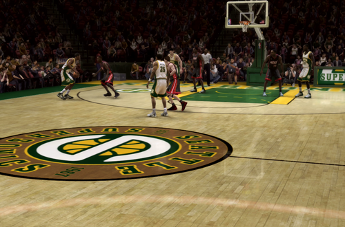 Seattle SuperSonics in NBA Live 08