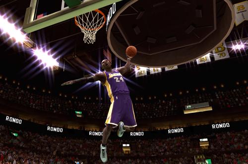 Kobe Bryant dunks in NBA Live 09