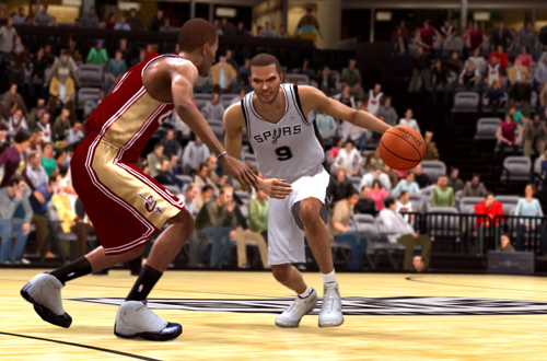 Cover Player Tony Parker in NBA Live 09