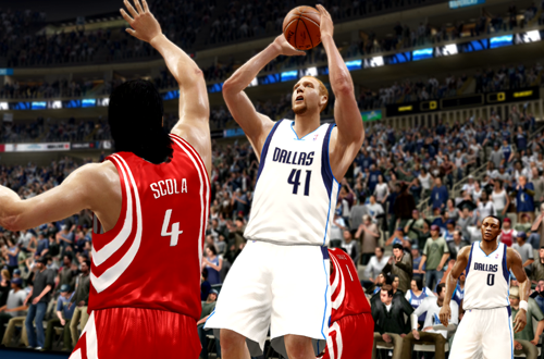 Dirk Nowitzki Fadeaway in NBA Live 10