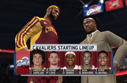 LeBron James Back in Cleveland in NBA Live 14