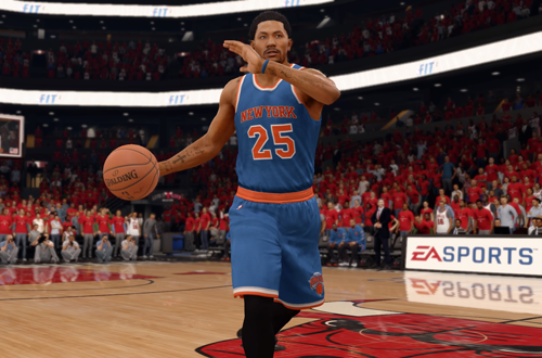 Derrick Rose on the Knicks in NBA Live 16