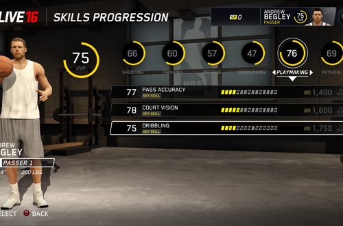 Upgrading Key Skills in NBA Live 16