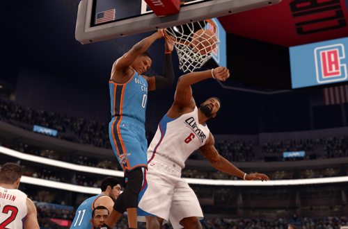 NBA Live 16 Cover Player Russell Westbrook