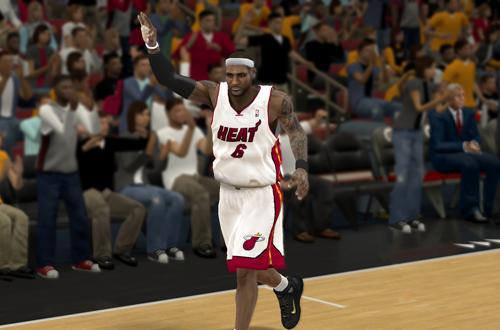 LeBron James in NBA 2K12