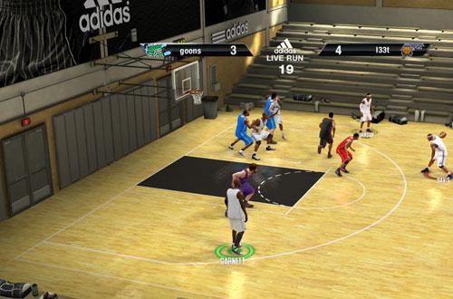 adidas Live Run in NBA Live 10