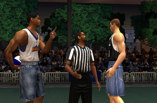 Knicks vs. Spurs in NBA Live Street 2003