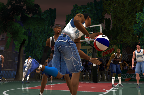 Tracy McGrady & Allen Iverson in NBA Live Street 2003