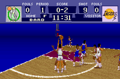 Lasers vs Celeries in Super Dunk Shot