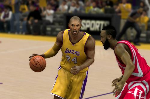 Kobe Bryant vs James Harden (NBA 2K15)