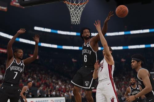 DeAndre Jordan Blocks a Shot (NBA Live 19)