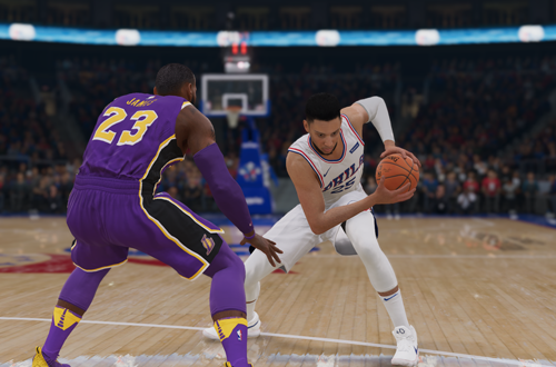 LeBron vs Simmons (NBA Live 19)