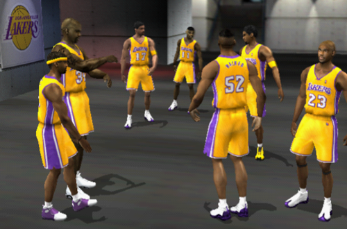 Los Angeles Lakers Pre-Game (NBA Live 2002)