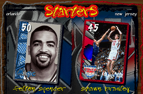 Starters Screen in NBA Live 97 PC