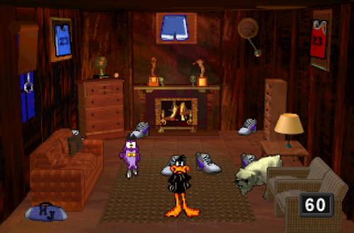 Daffy Duck Minigame in Space Jam