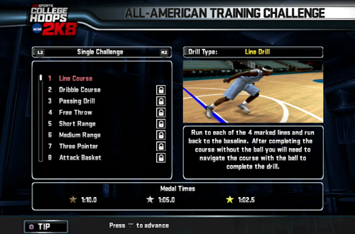 All-American Training Challenge (College Hoops 2K8)