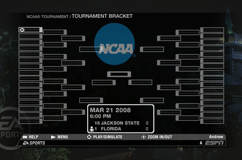Tournament Bracket (NCAA March Madness 08)