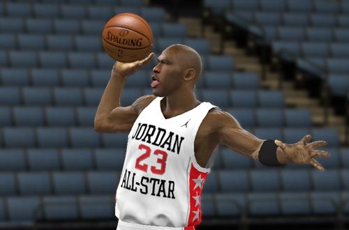 Michael Jordan Tongue Out (NBA 2K11)