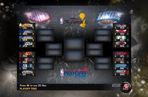 Playoffs Mode in NBA 2K11