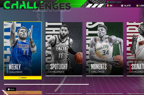 Challenges in NBA 2K21 MyTEAM