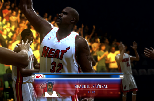 Shaq During Player Introductions (NBA Live 06 Xbox 360)