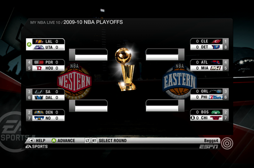 Playoffs Mode Returned in NBA Live 10