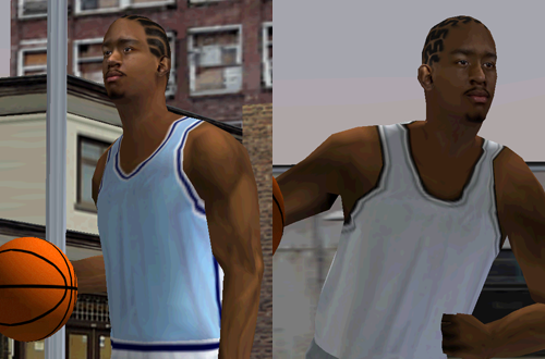 Going the extra mile with hairstyles (NBA Live 2000)