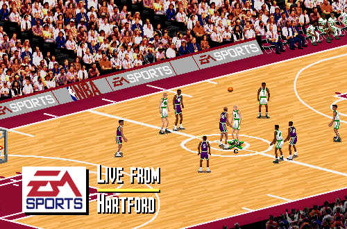 Hartford Civic Center Court in NBA Live 95 PC