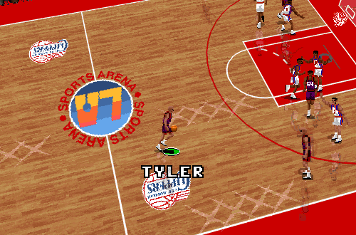 Inactive Player B.J. Tyler in NBA Live 96 PC
