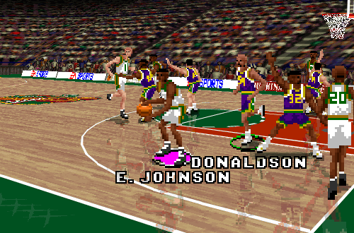Inactive Player James Donaldson in NBA Live 96 PC
