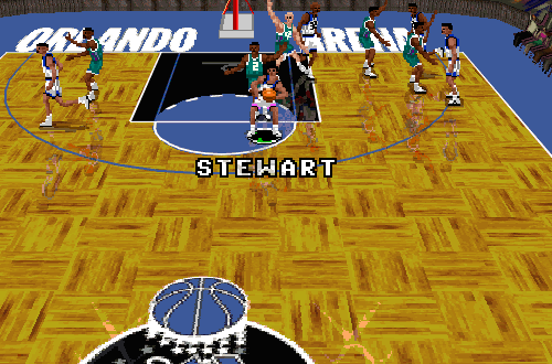 Larry Stewart in NBA Live 96 PC