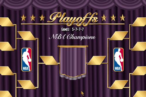 Playoffs Tree in NBA Live 96
