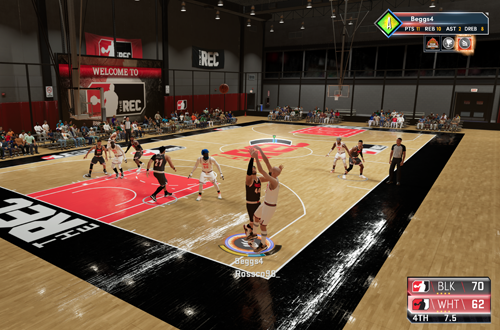MyCAREER Default Camera in The Rec (NBA 2K21 Next Gen)