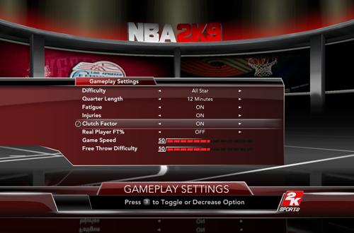 Clutch Factor in NBA 2K9
