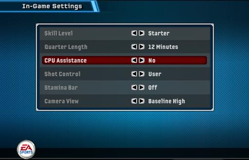 CPU Assistance in NBA Live 06