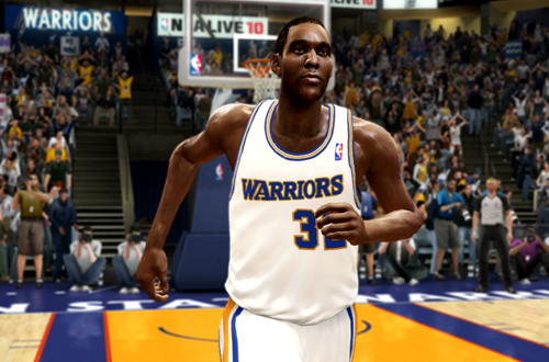 Joe Smith in his Rookie Warriors Retro Jersey (NBA Live 10)