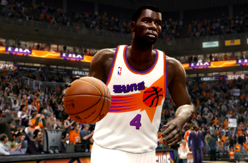 Michael Finley Wearing His Rookie Jersey (NBA Live 10)