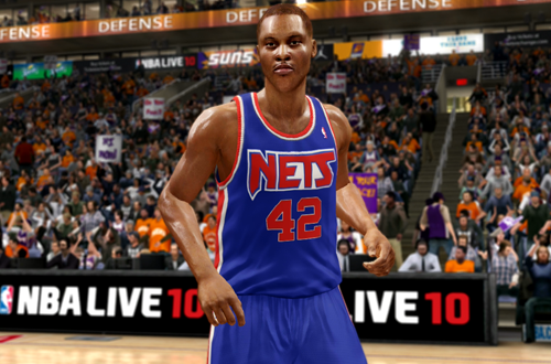 P.J. Brown in his Rookie Nets Jersey (NBA Live 10)